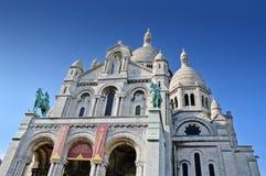 La basilica del cuore sacro di Parigi Immagine Stock