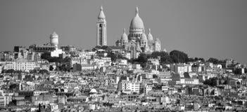 La basilica del cuore sacro di Parigi Immagini Stock