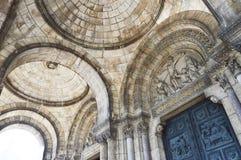 La basilica del cuore sacro di Parigi, un chur cattolico Immagini Stock
