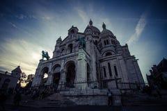 La basilica del cuore sacro in Montmartre Immagine Stock