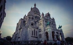 La basilica del cuore sacro in Montmartre Fotografie Stock