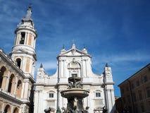 La basilica del santuario della Camera santa di Loreto nell'AIS fotografia stock libera da diritti