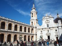 La basilica del santuario della Camera santa di Loreto nell'AIS immagine stock libera da diritti