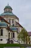 La basilica della st Lorenz dentro kempten fotografia stock