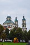 La basilica della st Lorenz dentro kempten fotografie stock