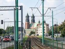 La basilica di Archcathedral di St Peter e di St Paul a Poznan Fotografia Stock