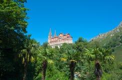La basilica di Covadonga Immagine Stock