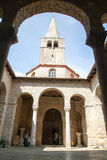 La basilica di Euphrasian in Porec Immagine Stock