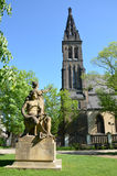 La basilica di Peter & di Paul e gruppo scultoreo Premysl & Libuse Immagine Stock Libera da Diritti