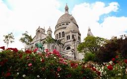 La basilica di Sacre-Coeur in Montmartre, Parigi Fotografia Stock