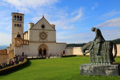 La basilica di San Francesco immagini stock