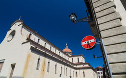 La basilica di Santa Maria del Santo Spirito, Firenze, Italia Fotografia Stock