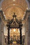 La basilica di St Peter, Città del Vaticano fotografia stock libera da diritti