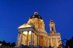 La basilica di Superga fotografia stock libera da diritti
