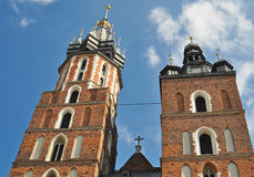 La basilica di vergine Maria Cracovia - in Polonia Fotografie Stock Libere da Diritti