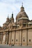 La basilica Pilar a Zaragoza, Spagna. fotografia stock libera da diritti