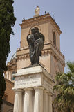 La Basilica Santa Maria Assunta and the Great War Memorial stock image