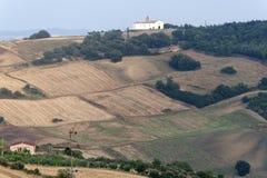 La Basilicata - paesaggio vicino a Oppido Lucano Immagini Stock