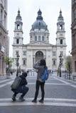 La basilique Budapest de St Stephen Photographie stock libre de droits