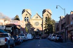 La basilique de cathédrale du St Francis d'Assisi en Santa Fe, Nouveau Mexique images libres de droits