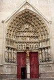 La basilique de cathédrale de notre Madame d'Amiens Image libre de droits
