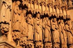 La basilique de cathédrale de notre Madame d'Amiens, France Images stock
