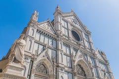 La basilique de la croix sainte à Florence, Italie Images libres de droits