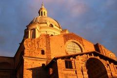 La basilique de la Renaissance du ` Andrea, Mantua, Italie de Sant Image stock