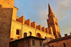 La basilique de la Renaissance du ` Andrea, Mantua, Italie de Sant Photo stock