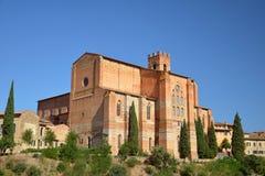La basilique de San Domenico de Sienne, Italie Photographie stock libre de droits
