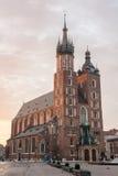 La basilique de St Mary, Cracovie, Pologne Image stock