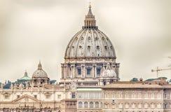 La basilique de St Peter, Rome Images libres de droits