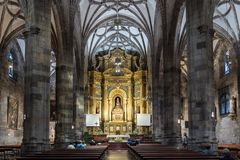 La basilique du bégonia à Bilbao de l'Espagne images libres de droits