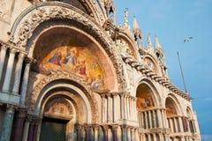 La basilique du repère de rue, Venise, Italie images stock