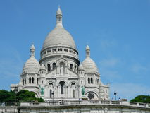 La Basilique du Sacre Coeur in Paris, France. Royalty Free Stock Photos