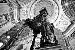 La basilique intérieure de Peter de saint Image stock