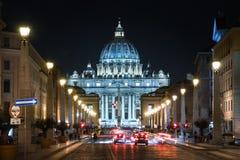 La basilique papale du saint Peter à Vatican Photos libres de droits