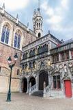 La basilique sainte de sang à la place de Burg à Bruges photos libres de droits