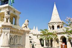 La bastion du pêcheur, vieille ville de Budapest, Hongrie Image libre de droits