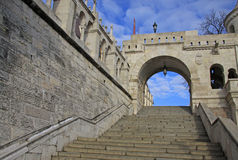 La bastion et le Matthias Church du pêcheur à Budapest, Hongrie Images libres de droits