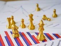 La bataille de confrontation d'affaires font par des échecs nationaux image stock
