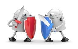 La bataille de deux robots Photo stock