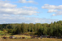 La batalla de Borodino fotografía de archivo