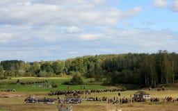 La batalla de Borodino imagenes de archivo