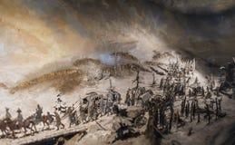 La batalla de Leipzig o batalla de las naciones, 1813 imagen de archivo libre de regalías
