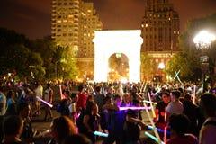La batalla 11 de 2015 NYC Lightsaber Fotografía de archivo libre de regalías