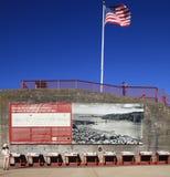 La batería de puente Golden Gate pasa por alto Fotos de archivo