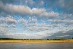 La batería derecha del río de Irtysh Imagenes de archivo