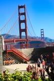 La batería Lancaster de puente Golden Gate pasa por alto Imagenes de archivo