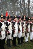 La battaglia di Austerlitz Fotografie Stock